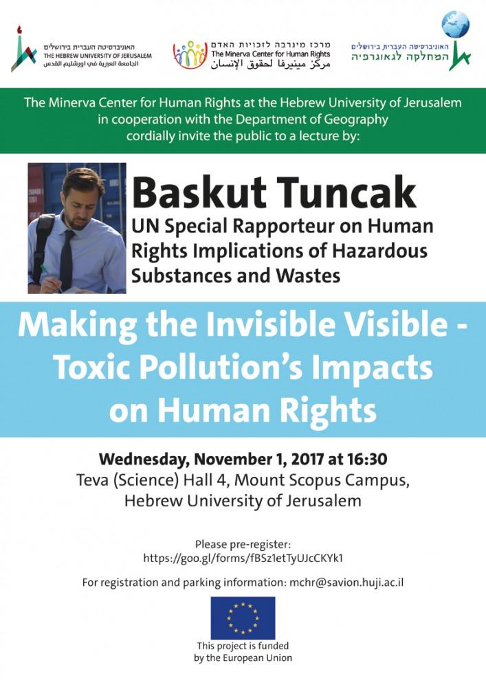 הפיכת הבלתי-נראה לנראה – ההשפעות של זיהום רעיל על זכויות האדם
