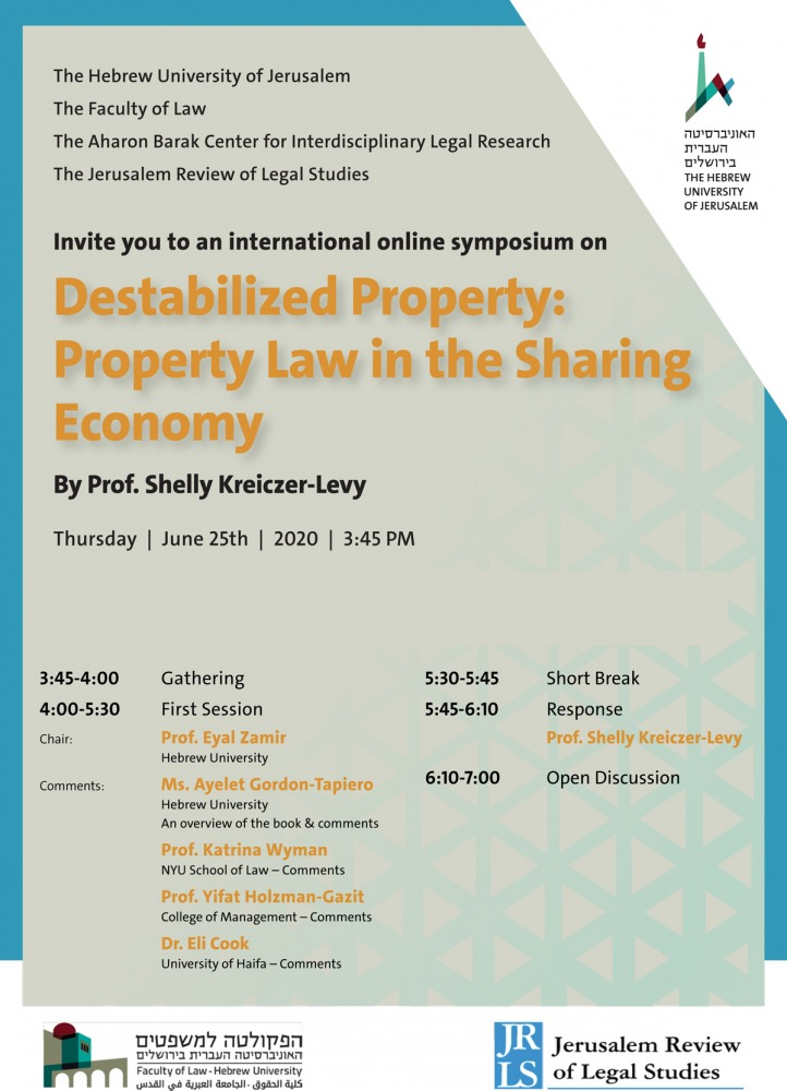 Destabilized Property: Property Law in the Sharing Economy