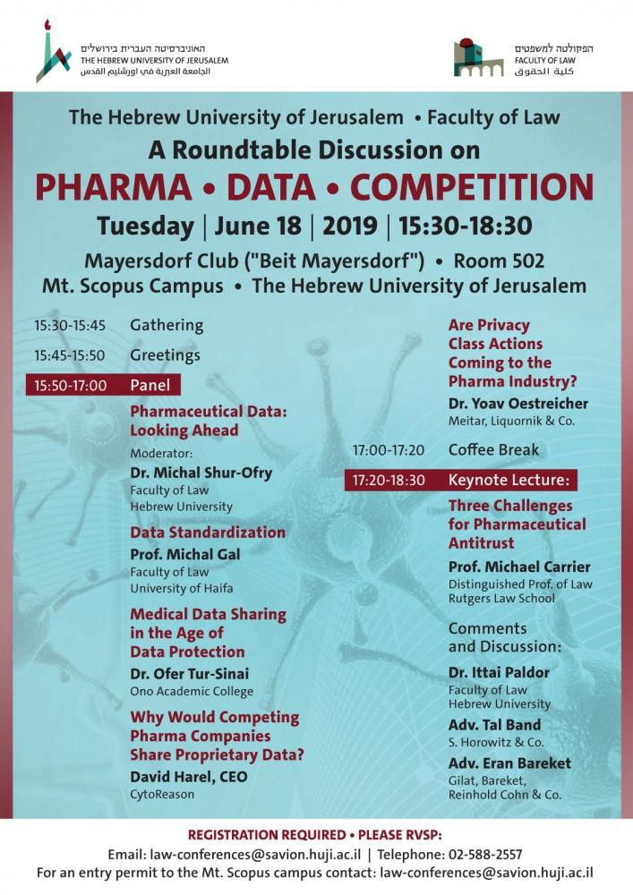 שולחן עגול בנושא: פארמה, מידע ותחרות