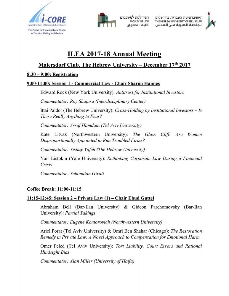 ILEA 2017-18 Annual Meeting