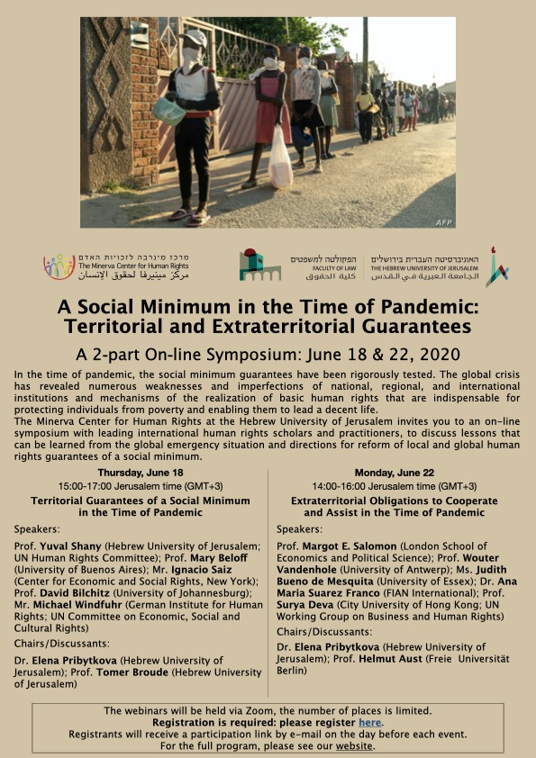 A Social Minimum in the Time of Pandemic