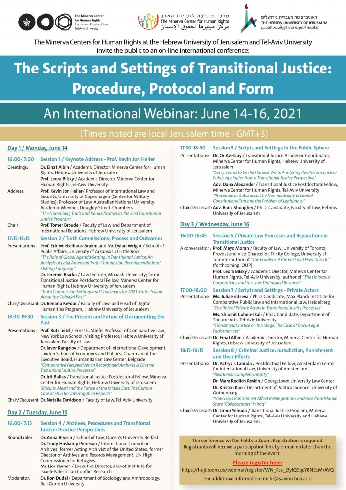 The Scripts and Settings of Transitional Justice - Procedure, Protocol and Form
