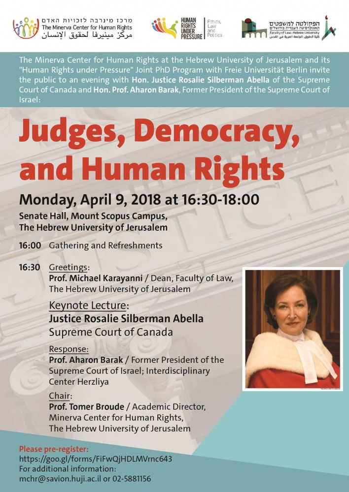 שופטים, דמוקרטיה וזכויות אדם