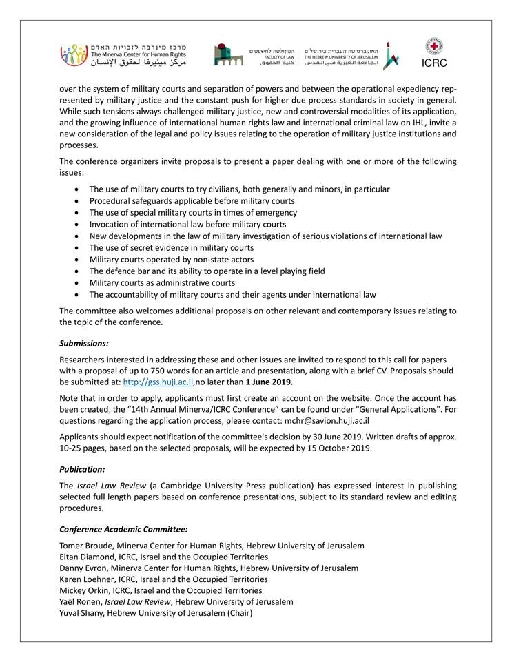 Conference Call for Papers - 14th Annual IHL - Military Justice and Armed Conflict-2