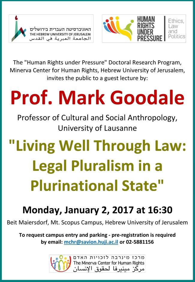 Prof. Mark Goodale