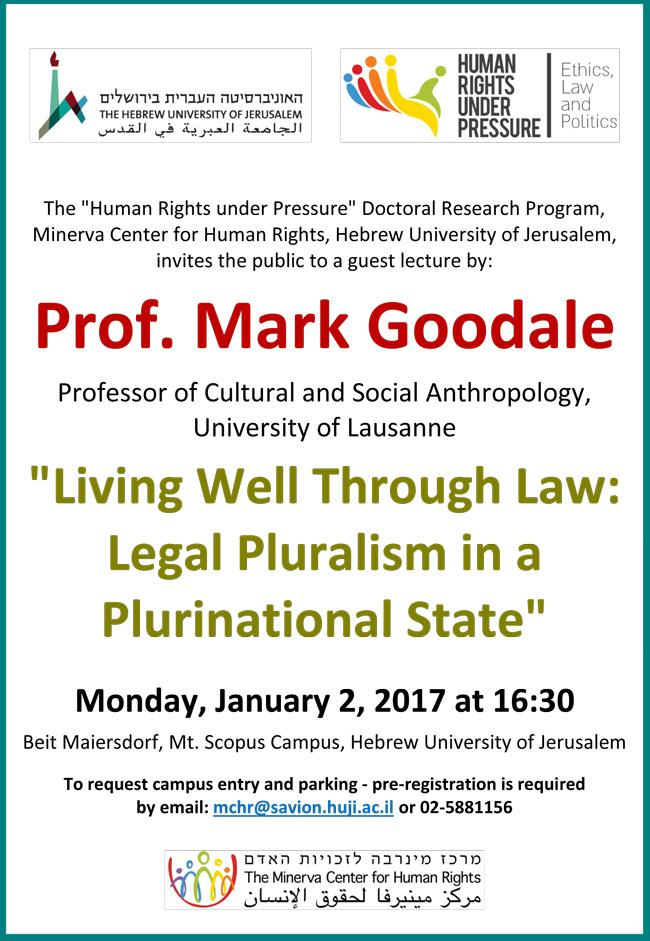 Prof. Mark Goodale