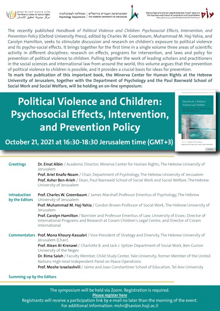 Political Violence and Children - Psychosocial Effects, Intervention, and Prevention Policy